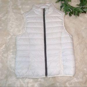 Guess   Lightweight White Puffer Vest